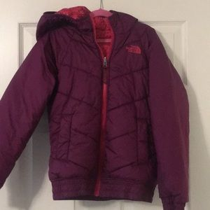 The North Face girls coat reversible